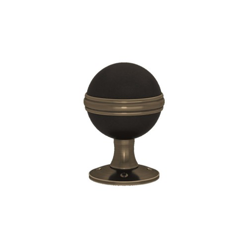 D6633 Saturn Turnstyle door knob In Combination Amalfine on Round Rose