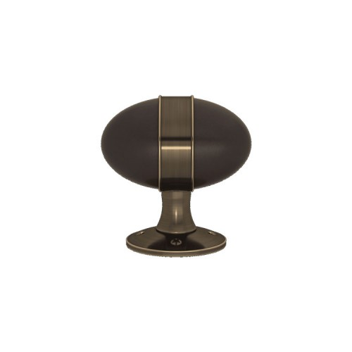 D7568 Banded Egg Turnstyle door knob In Combination Amalfine on Round Rose