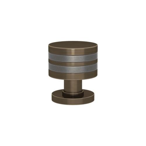 P2244 Layer Design Turnstyle door knob In Combination Amalfine on Round Rose