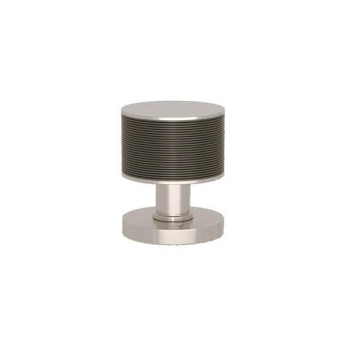 P6587 Stacked Wire Turnstyle door knob In Combination Amalfine on Round Rose
