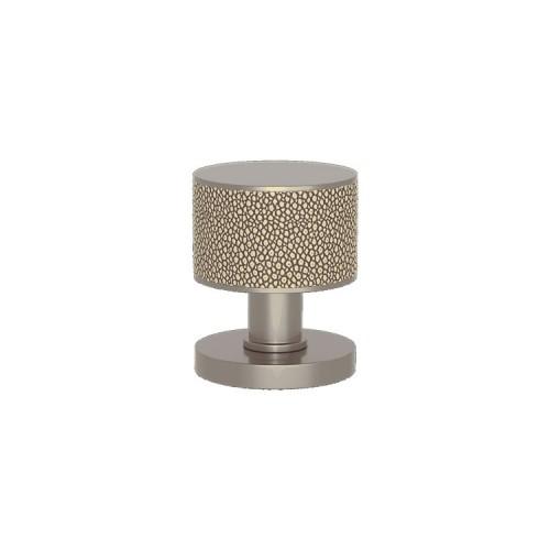 P6702 Stacked Shagreen Turnstyle door knob In Combination Amalfine on Round Rose
