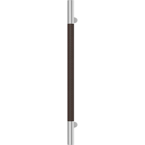 Turnstyle Designs Recess Leather Door Pulls Slim Barrel (Stitch Out) - 400mm