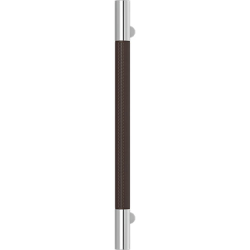 Turnstyle Designs Recess Leather Door Pulls Barrel (Stitch Out) - 400mm