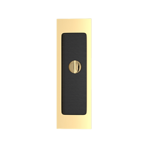 Turnstyle Designs R1955 Flush Pull with Release Turn Black Leather