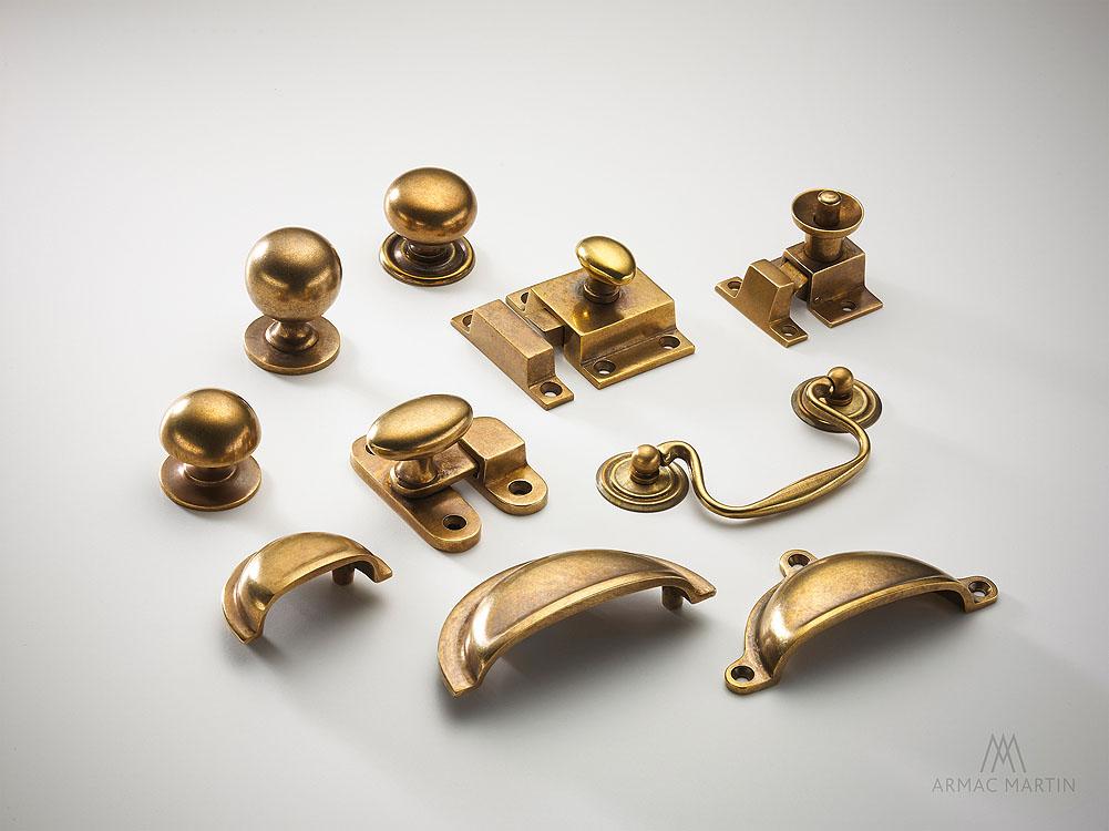 Armac Martin Kitchen Cabinet Handles Brass Chrome Satin Brass Antique Brass Dark Bronze Art Deco