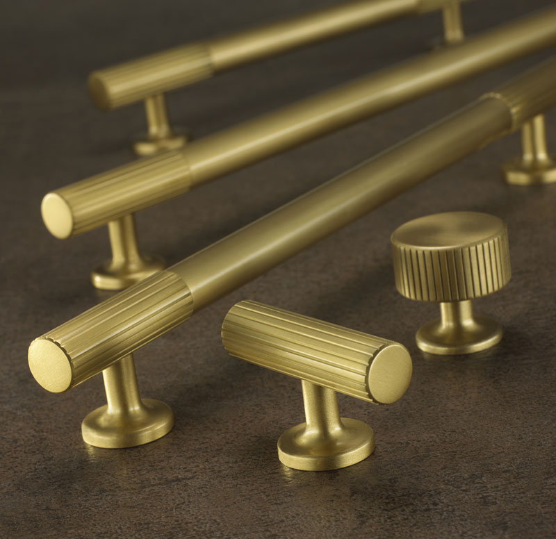 Armac Martin Kitchen Cabinet Handles Brass Chrome